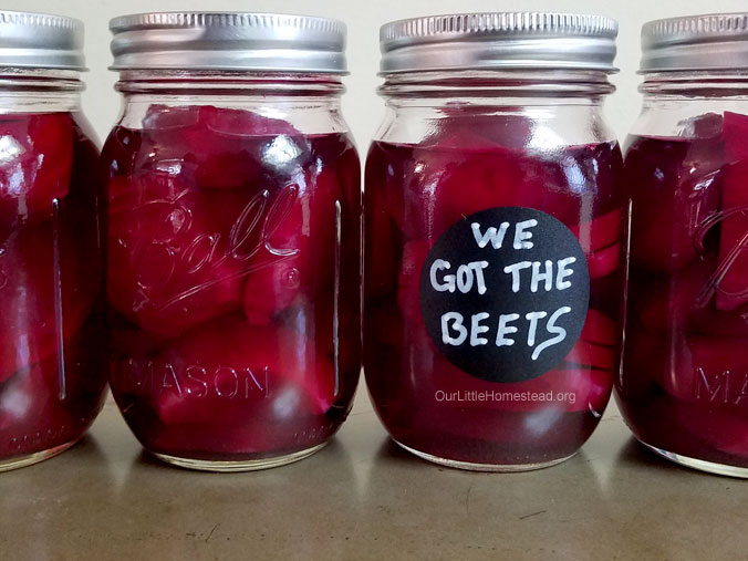 Canning Roasted Beets Plain