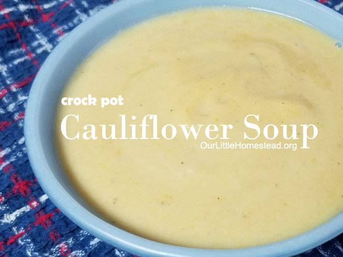 Crock Pot Cauliflower Soup