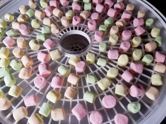 dehydrating marshmallows