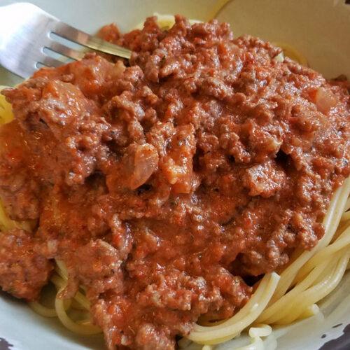 no tomato spaghetti sauce recipe