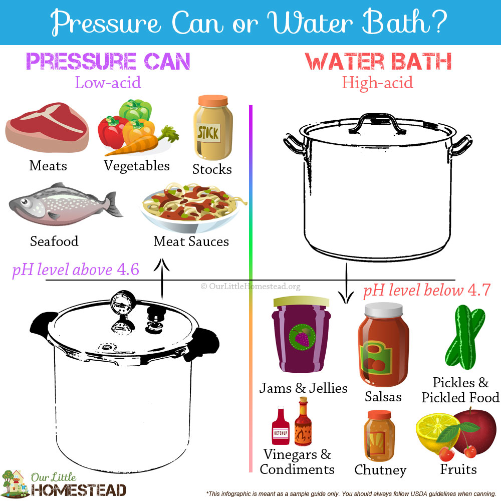 Pressure Canning vs. Water Bath