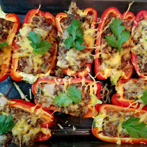 beef pepper boats recipe without tomatoes