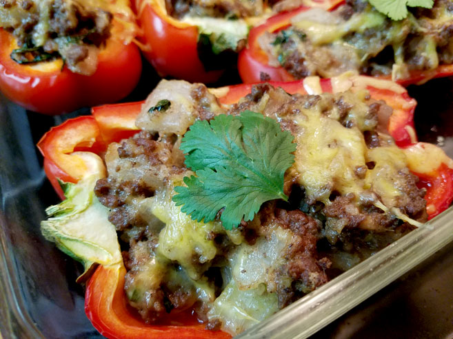 stuffed bell pepper boat recipe without tomatoes